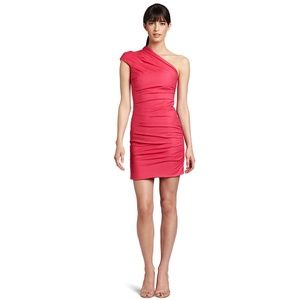 NWT Camilla & Marc Ruched One Shoulder Pink Dress